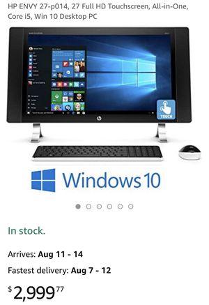 HP ENVY 27-p014, 27 Full HD Touchscreen, All-in-One, Core i5, Win 10 Desktop PC for Sale in Murrieta, CA
