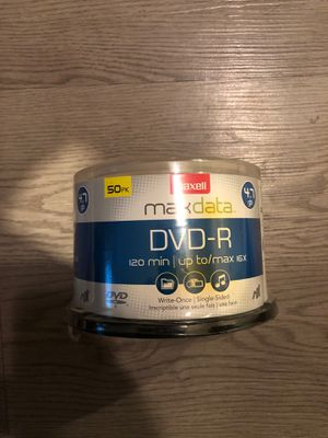 Maxell DVD-R 4.7 GB 8X 50 Pack Video Recording Blank dvd 120 min for Sale in Los Angeles, CA