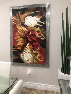 Canvas painting with metal frame for Sale in Miami, FL