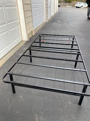 Foldable Metal Platform Twin Bed Frame 14 Inch Height for Sale in Southborough, MA