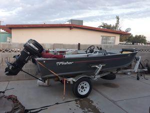 fisher aluminum boat for Sale in Las Vegas, NV