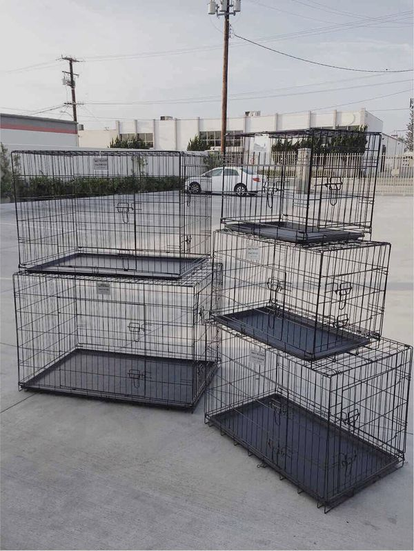 """New $25 to $65 range 24"""" 30"""" 36"""" 42"""" 48"""" foldable 2 doors dog cage crate kennel collapsible jaula de perro"""