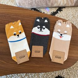 Shiba Inu Socks - 3 Pairs for Sale in West Linn,  OR