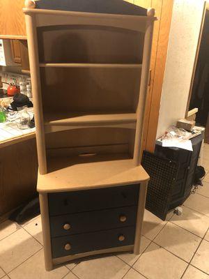 Child's Three drawer dresser with book shelf for Sale in San Antonio, TX