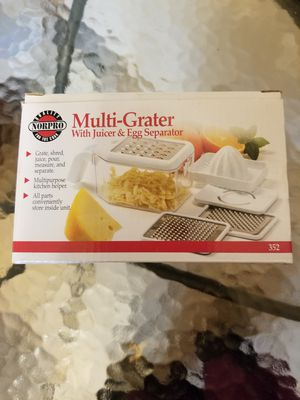 Multi-Grater with juicer & egg separator for Sale in Clinton, MD