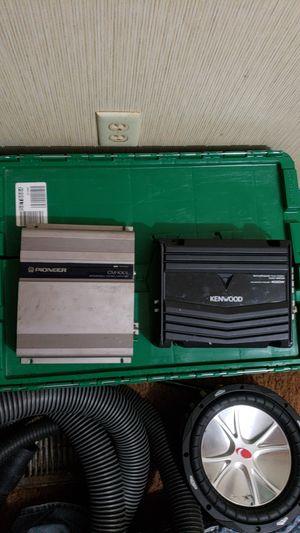 Kenwood KAC-5206 & Pioneer CM-X302 for Sale in Prattville, AL