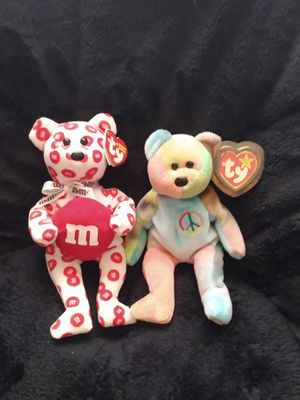 RED AND PEACE TY beanie babies for Sale in Greenville, SC