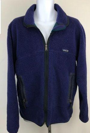 Men's Vintage PATAGONIA Vtg P.E.F Retro-X Deep Pile Fleece Jacket In Blue Sz XL for Sale in Lake Oswego, OR