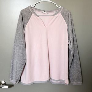 Pastel Pink Gray Velour Slouchy Sweater Baseball Tee Style Large Women's Men's for Sale in Arlington, TX