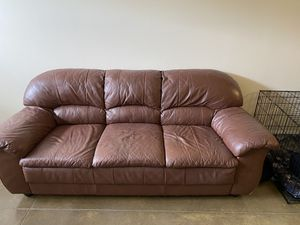 Leather Couch for Sale in Charlotte, NC