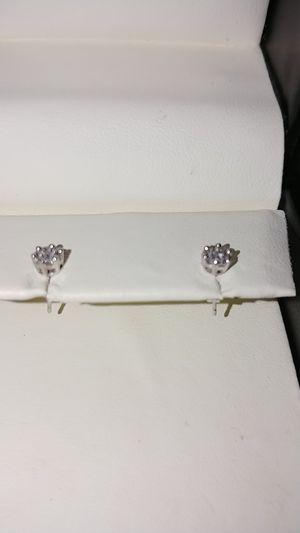 Littman Jewelers 14K White Gold 1/2 Carat Princess Cut Diamond Stud Earrings for Sale in Harrisburg, PA