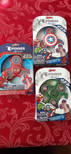 $1 each Marvel theme fidget Spinners New in Package - Spider-Man Hulk Captain America for Sale in Hemet, CA