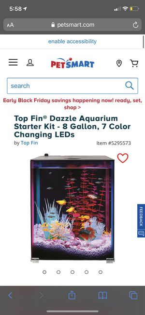 8 gallon fish tank for Sale in Tampa, FL