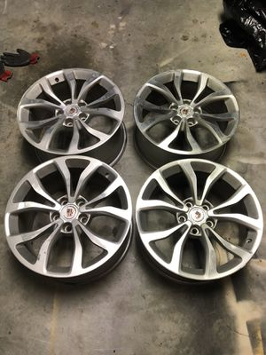 """Stock 18"""" staggered Cadillac premium spec rims. for Sale in Charlotte, NC"""