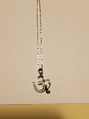 Sterling silver Necklace with sterling silver pendant. for Sale in Alhambra, CA