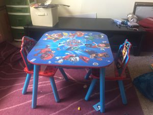 Kids table with 2 chairs for Sale in Presto, PA