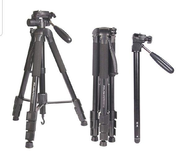 "70""/176.5cm 2-in-1 Tripod Monopod-Camera Tripod AluminumTravel Tripod with Bag for Canon/Nikon/Sony DSLR/SLR Camera"