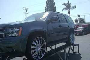 2009 Chevy Tahoe LT FlexFuel Clean Title,cloth Interior Black 3RD RowSeating Rims 26 for Sale in Salt Lake City, UT