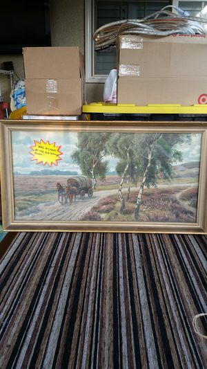 Vintage Print Covered Wagon Glass Frame for Sale in Upland, CA