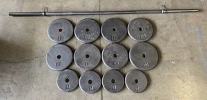 Adjustable Weight Workout Set 100lbs & Barbell for Sale in Happy Valley, OR
