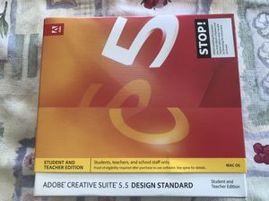 Adobe creative suite 5.5 design standard. for Sale in Glendora, CA