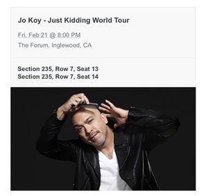 Jo Koy FEB 21st Great Seats! for Sale in Irwindale, CA