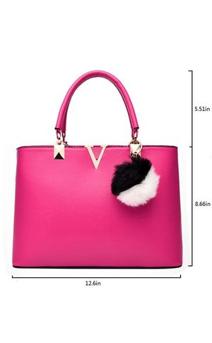 Women Top Handle Satchel PU Leather Handbags Tote Purse V Word Shoulder Fashion Messenger Bag with Zipper for Ladies for Sale in El Cajon, CA