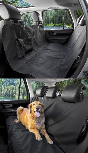 (NEW) $15 Pet Dog Car Seat Protector Cover Back Rear Mat Pad Waterproof Hammock, Black for Sale in South El Monte, CA