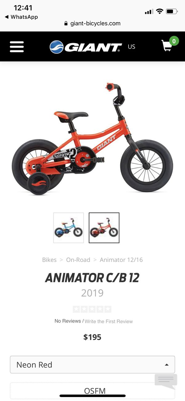 Child kid bike giant animator bicycle with helmet