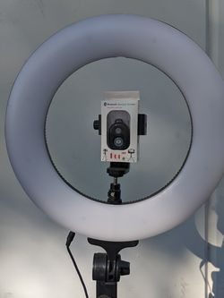 13 inch Dimmable Ring Light Warm or Cool White Youtube Blogging Bloggers Home Office Barber Salon Photo Video for Sale in Ontario,  CA