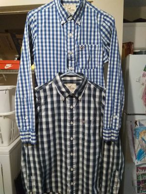 2 Men's Hollister button down long sleeve dress shirts(medium) for Sale in Murfreesboro, TN