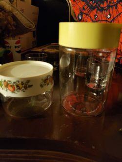 Set of 2 pyrex jars for Sale in Homestead,  FL