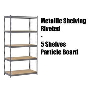 Riveted Steel Shelving Unit Storage - 5 shelf for Sale in Long Beach, CA