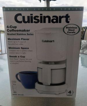 CUISINART 4 CUP COFFEE MAKER IN WHITE NEW IN BOX! for Sale in Seal Beach, CA