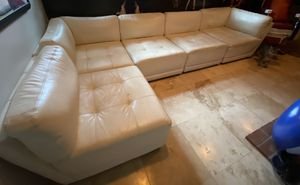 White leather couch for Sale in Fullerton, CA