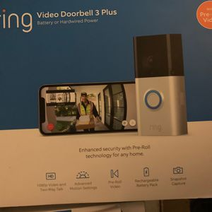 Ring Video Doorbell 3 Plus Hardwired Or Battery Powered for Sale in Costa Mesa, CA