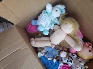 Moving box full of stuffed animals and dolls. for Sale in Tempe, AZ