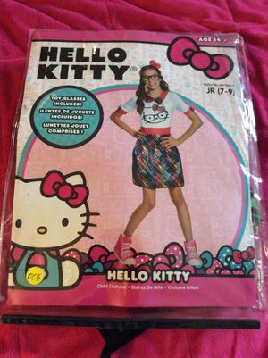 Hello Kitty Halloween costume girls size 7-9 includes toy glasses and headband for Sale in Broomall, PA