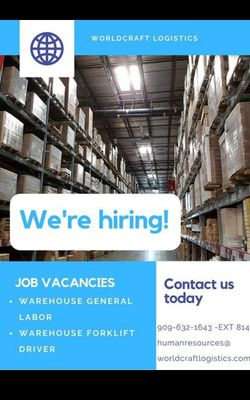 Forklift, labeling, clerical for Sale in Rancho Cucamonga,  CA