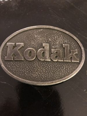 3 1/2 x 2 1/2 vintage metal EASTMAN KODAK belt buckle. Perfect gift for photographer. 18.00. 212 north Main Street Buda 🍁🎃Johanna. Antique vintage fu for Sale in Buda, TX