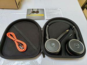 Jabra Evolve 75 UC Stereo Wireless Bluetooth Headset Music Headphone for Sale in Issaquah, WA