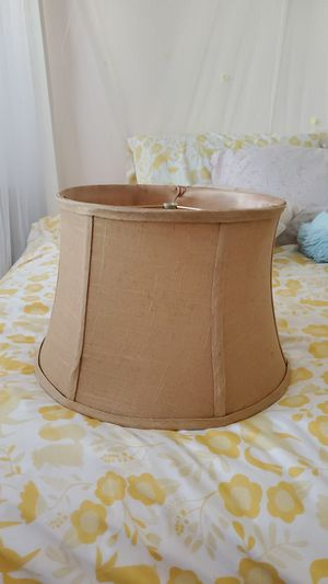 Burlap style lamp shade for Sale in Victorville, CA
