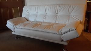 White leather futon adjustable to bed . Brand new for Sale in Albuquerque, NM