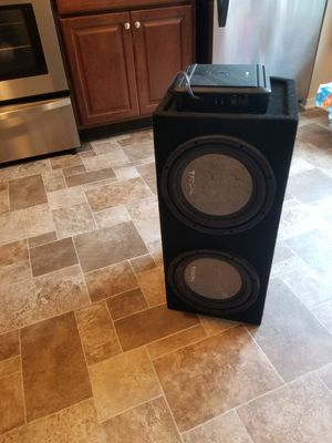Focal Subwoofer with Alpine amplifier for Sale in Germantown, MD