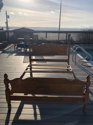 Full Bed Frame Light Wood for Sale in Gig Harbor, WA