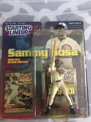 Sammy Sosa starting lineup action figure for Sale in Dallas, TX