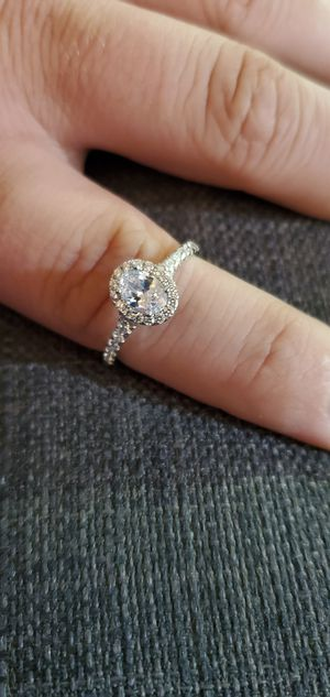 925 Sterling Silver, Oval Cut, 1.65 Carats Cubic Zirconia Stones, Wedding/Engagement Ring Size 4, 5, 6, 6.5, 7.5, 8, 8.5, 9, 9.5, 10, 11 & 12 for Sale in Portland, OR