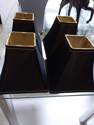 Black Silk Lamp Shades*Read the description for Sale in West Palm Beach, FL