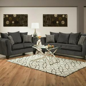 Charcoal Gray 2 Piece Sofa Set for Sale in Atlanta, GA