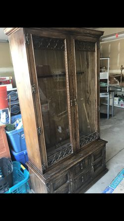 Antique glass framed gun cabinet for Sale in West Jordan,  UT